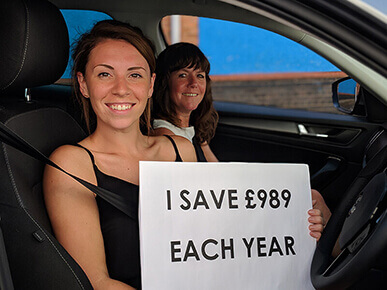 Sarah and Kate save £989 with Liftshare