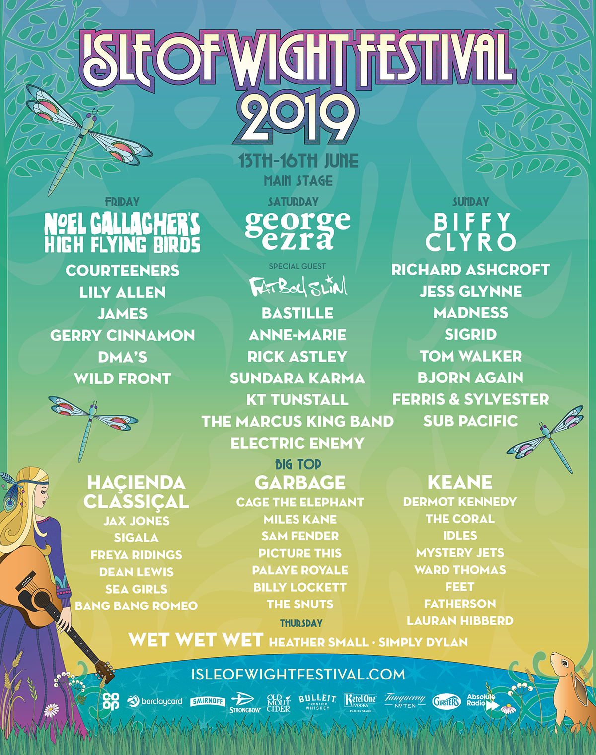 iow lineup